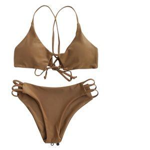 NWOT Tan Bikini